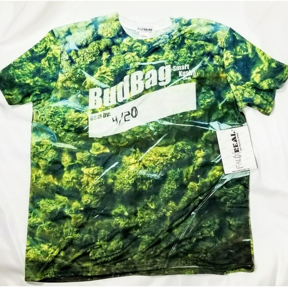 b144153a9e374 4 20 Bud Bag Graphic Marijuana Weed Ganja T Shirt